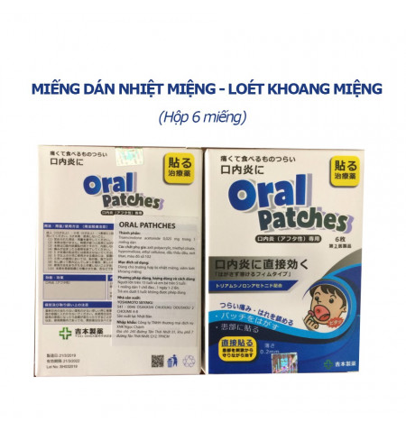 Miếng dán nhiệt miệng Oral Patches