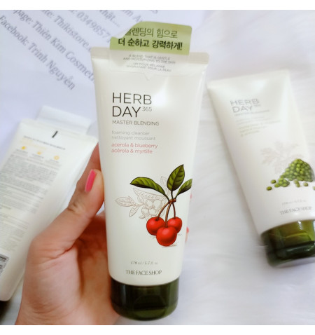 Sữa Rửa Mặt Cherry The Face Shop Herb Day 365 Cleansing Foam Acerola 170ml